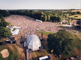 Aerial View of stage & audience